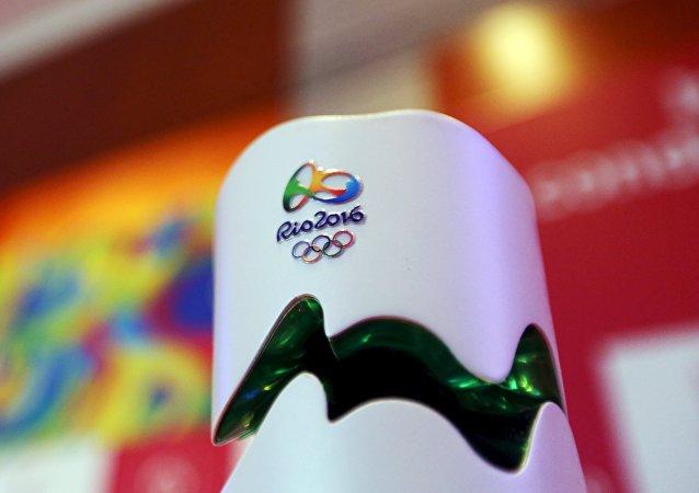 Une torche olympique