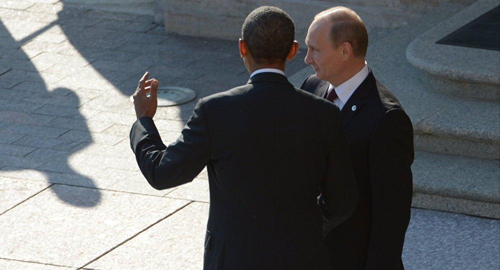 Barack Obama et Vladimir Poutine. Archive photo