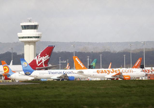 Aéroport londonien de Gatwick. Archive photo