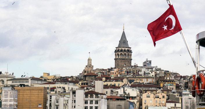 Un drapeau turc à Istanbul
