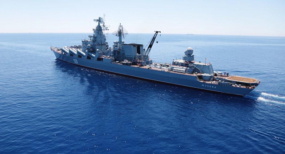 Сroiseur Moskva en Méditerranée