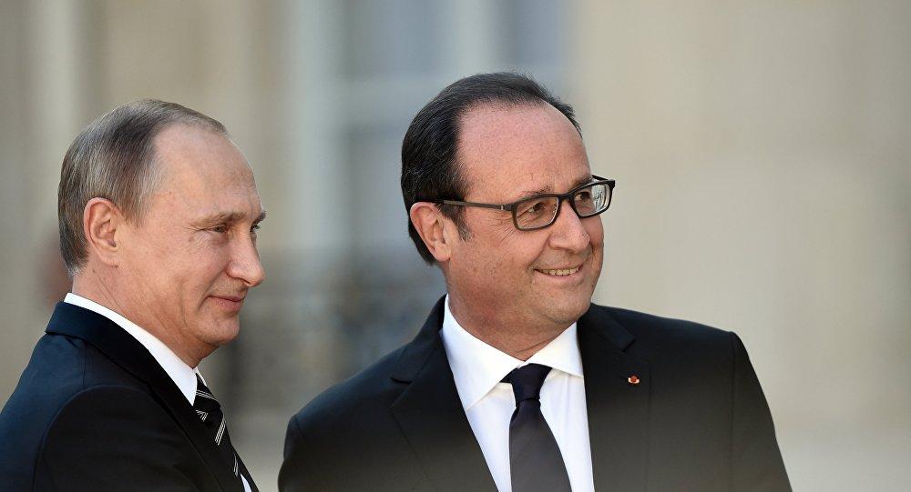 Vladimir Poutine et François Hollande