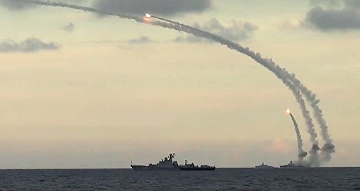 Des navires russes tirent des missiles Kalibr-NK contre des cibles terroristes en Syrie. Archive photo