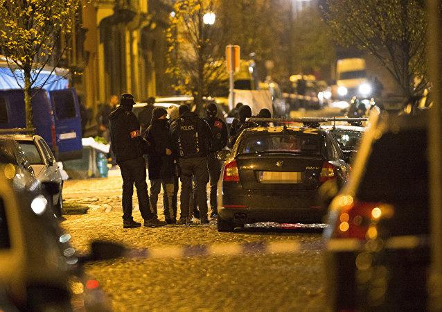 Une opération policière en Belgique