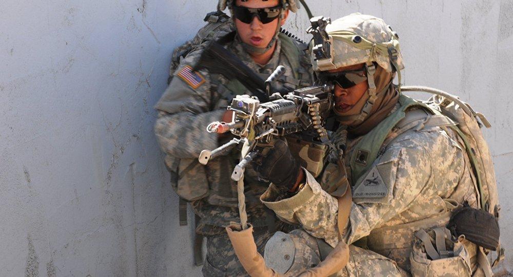 Soldats américains à l'entraînement