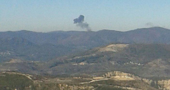 Le lieu du crash de l'avion russe abattu par la Turquie