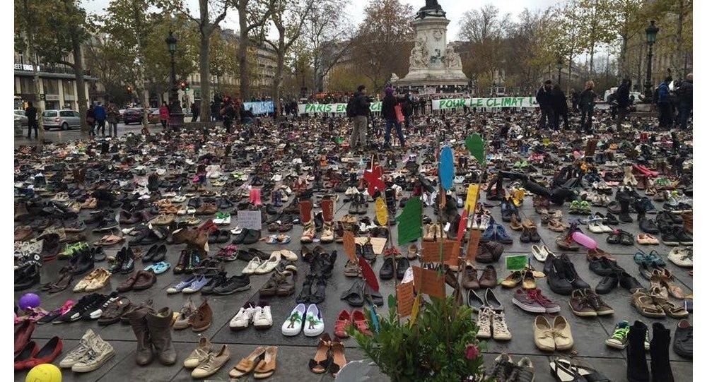 22 000 chaussures marchent pour le climat