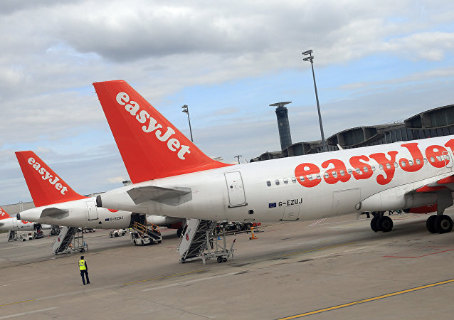 Airbus A 320 airplanes from low cost airline EasyJet are parked at Paris Roissy Charles de Gaulle airport in Roissy en France, north of Paris on April 29, 2013