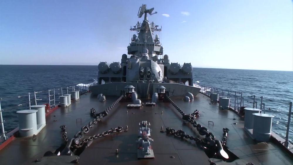 Le croiseur Moskva et ses armements