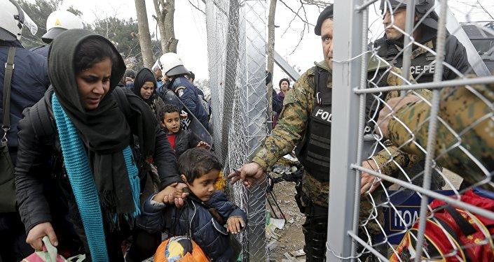 La frontière greco-macédonienne, Dec. 4, 2015.