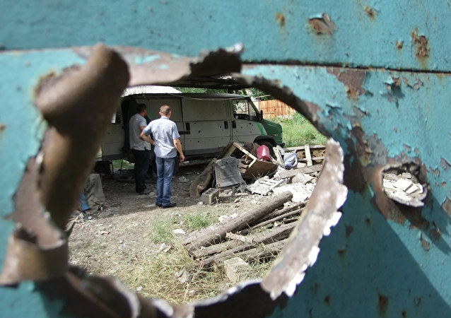 Le bombardement de Donetsk
