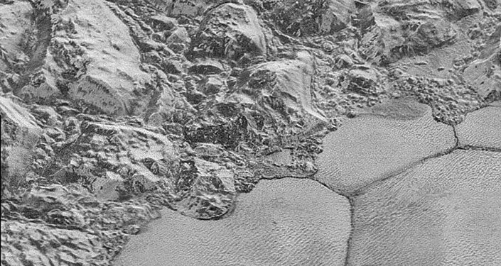 Pluto's water-ice crust