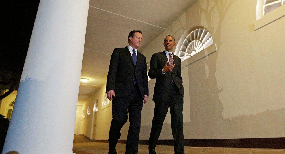 Le premier ministre britannique David Cameron et le président américain Barack Obama