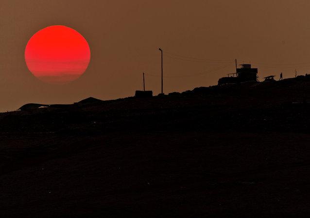 Un avant-poste militaire turc non loin de Kobané