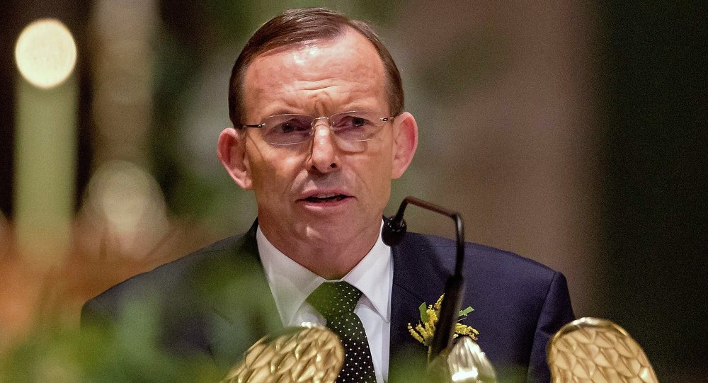 L'ancien Premier ministre conservateur australien Tony Abbott