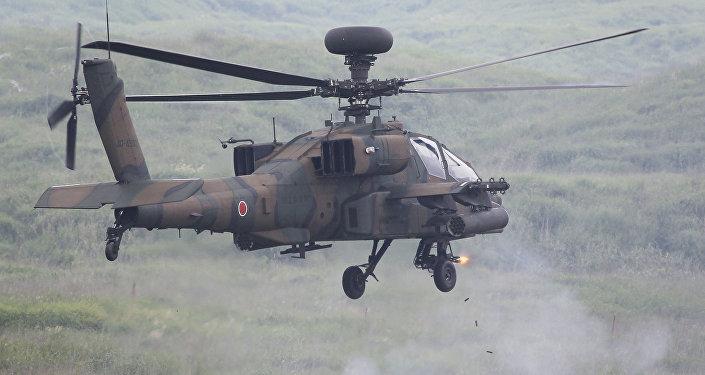 Un AH-64D Apache au Japon