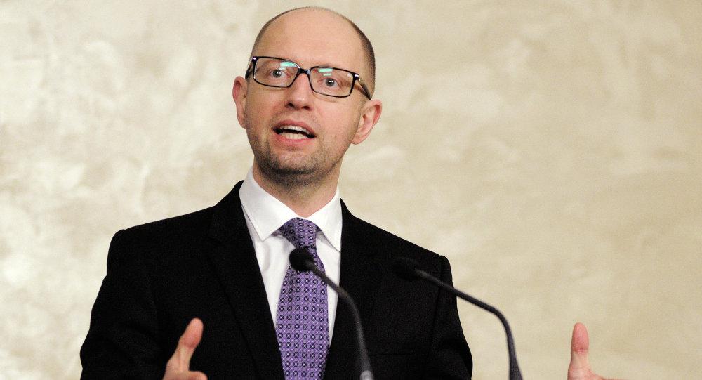 Le chef du gouvernement ukrainien Arseni Iatseniouk