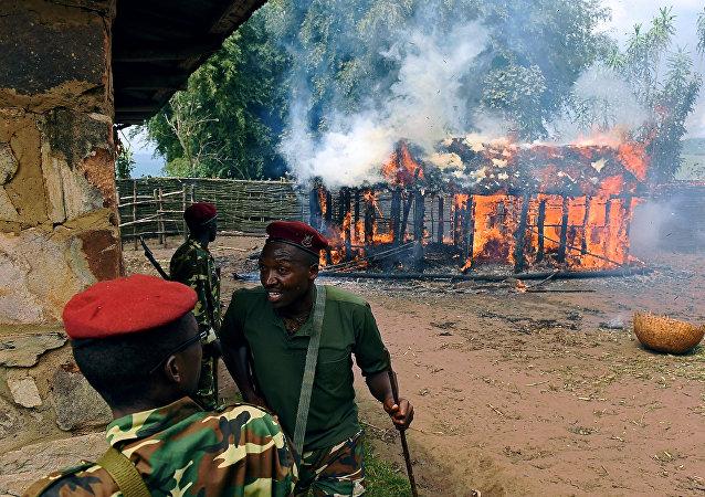 Burundi, soldats