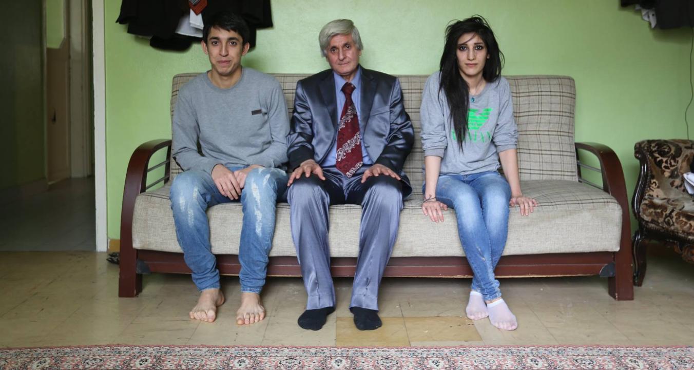 Syrien et de ses deux enfants survivants