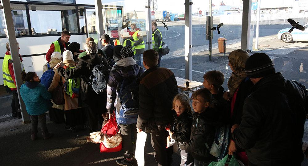 migrants syriens et irakiens à destination de la Suède