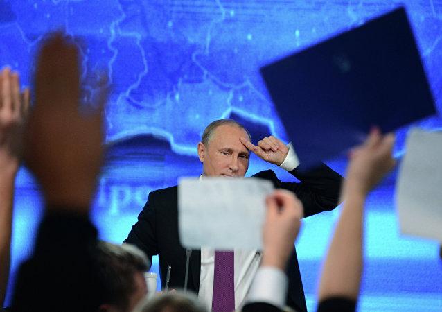 Grande confèrence de presse de Vladimir Poutine
