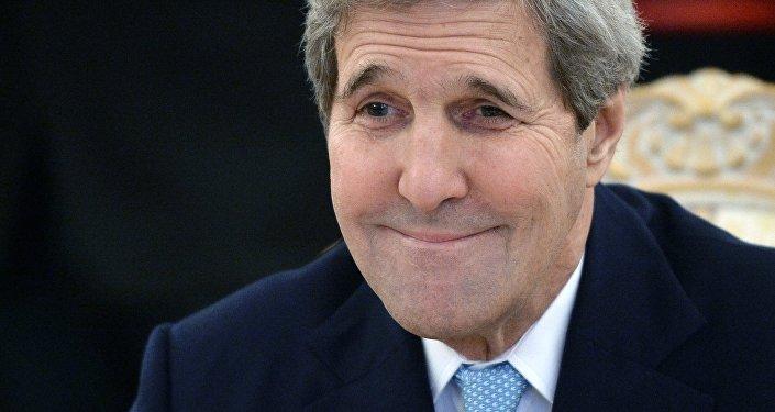 Le secrétaire d'Etat américain John Kerry en visite à Moscou