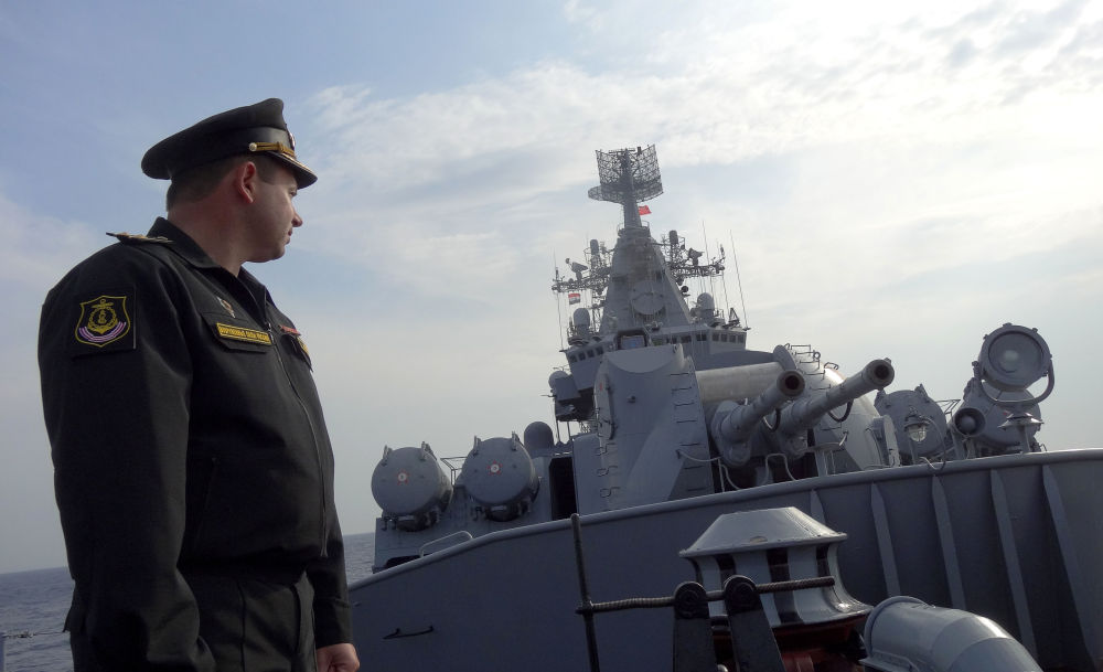 Le croiseur russe Moskva en mission en Syrie