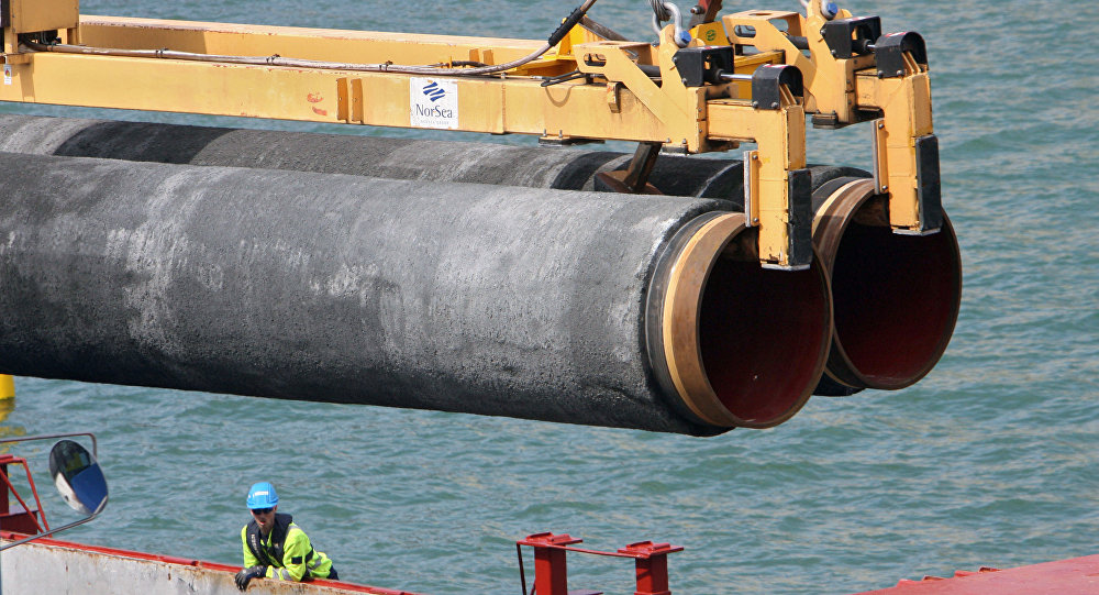 La pose du gazoduc Nord Stream