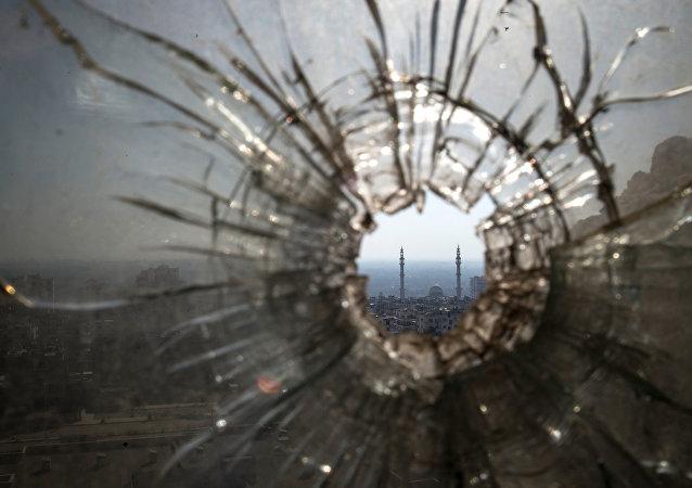 Les régions dévastées Holmes Al Hamidiya