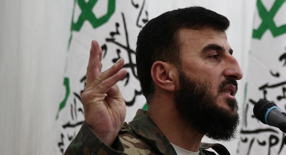 Zahran Alloush, the leader of Jaysh al-Islam (Islam Army)
