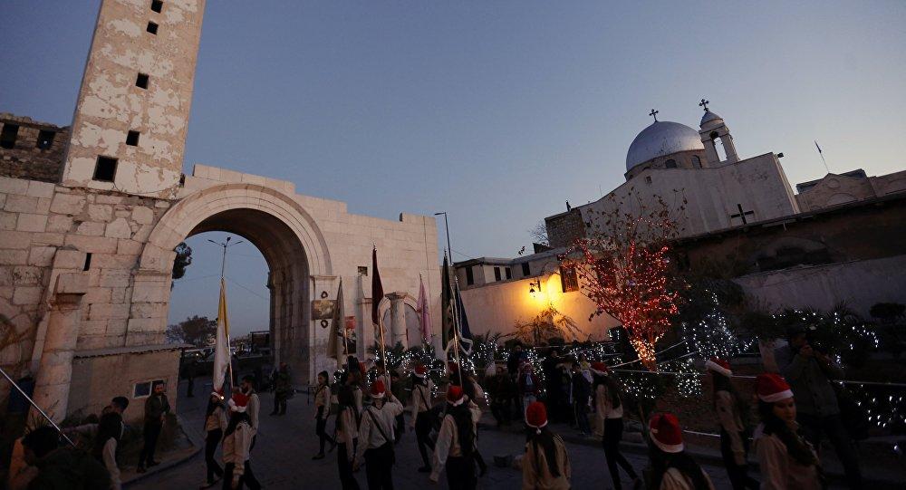 Chrétiens de Syrie célèbrent Noël, Décembre. 24, 2015.