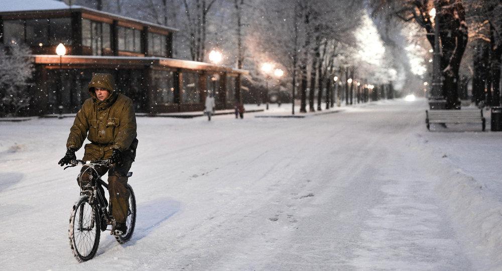 bicyclette en hiver