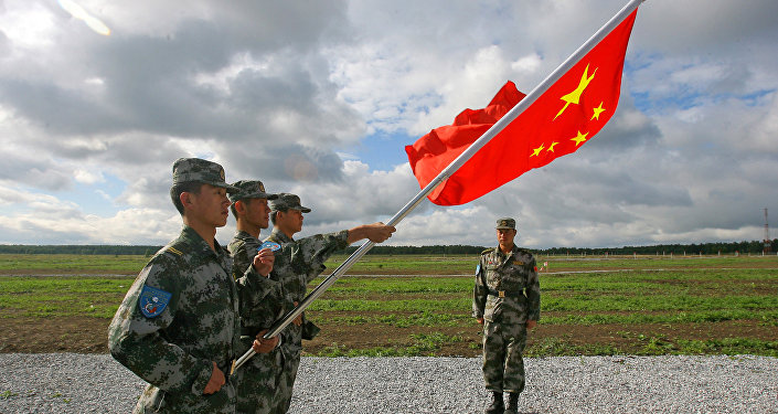 The Chinese People's Liberation Army soldiers