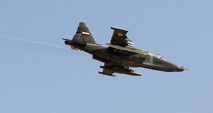 Un Sukhoi Su-25 de l'armée irakienne