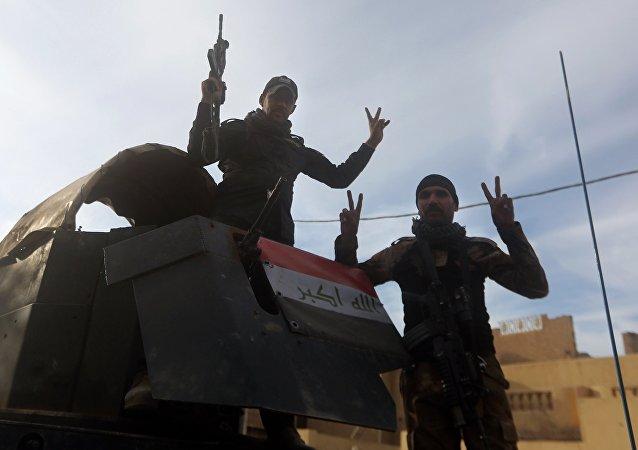 Militaires irakiens à Ramadi