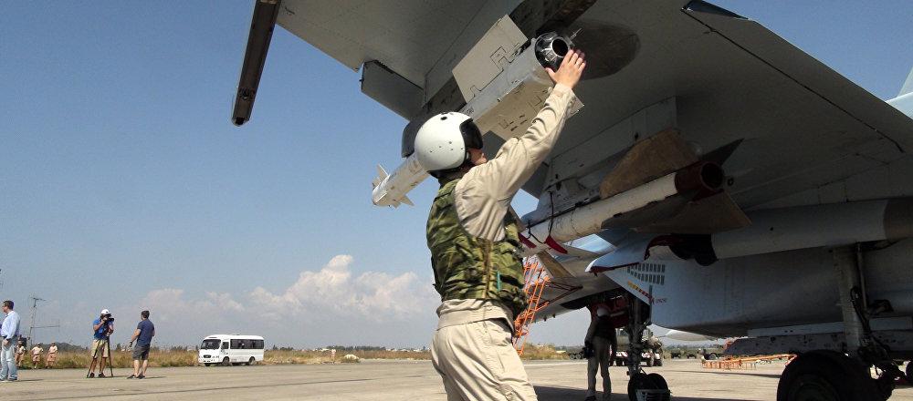 Un pilote russe sur la base militaire de Hmeimim