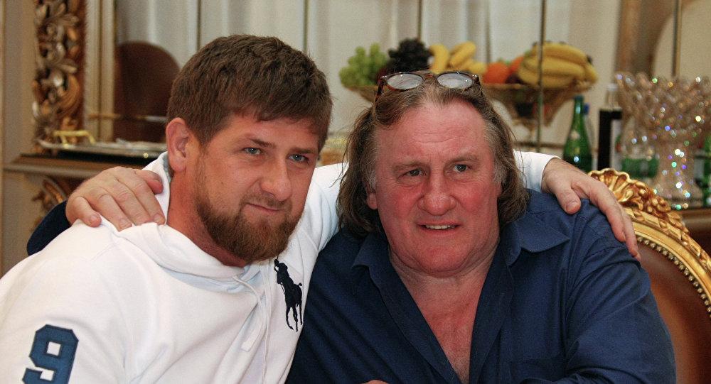 Akhmad Kadyrov et Gérard Depardieu