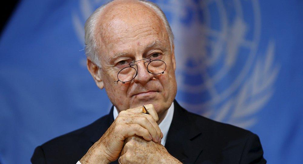 Le Secrétaire général des Nations unies sur la Syrie Staffan de Mistura