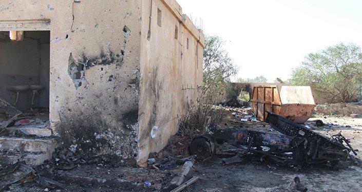 La ville de Zliten après une explosion, le 7 janvier 2016