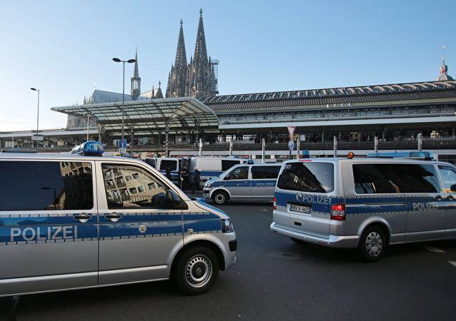 Une véhicule de police à Cologne