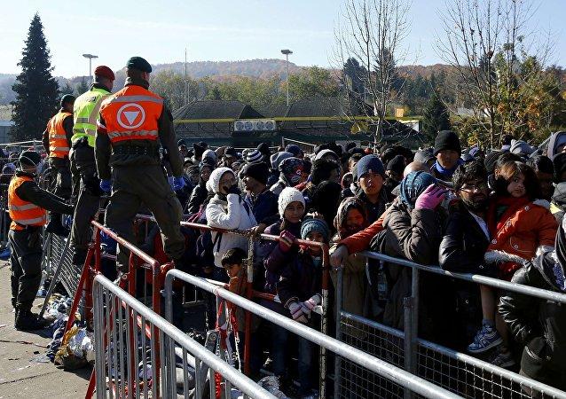 Des migrants