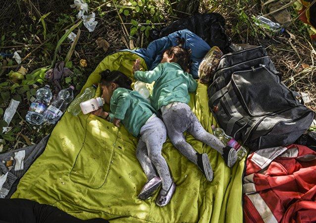 Les enfants des migrants. Archive photo