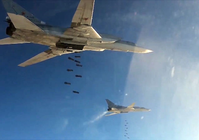 Des avions à long rayon d'action Tu-22M3 en Syrie. Archive photo