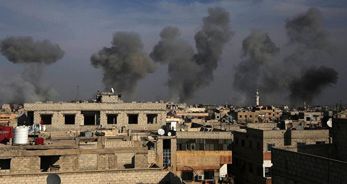 Bombardement en Syrie