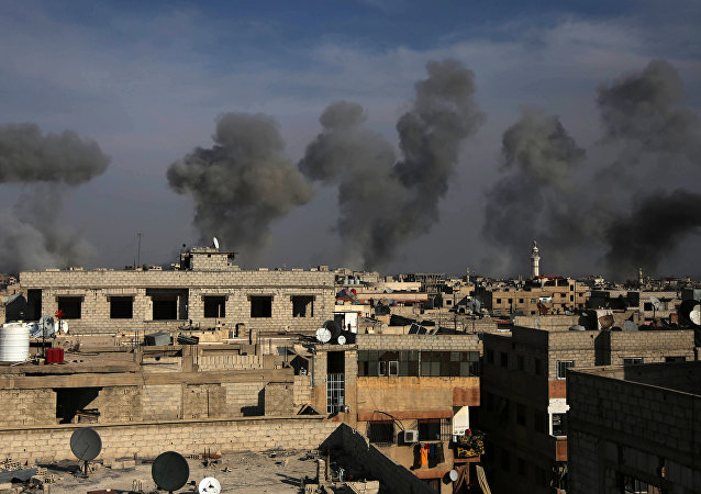 Bombardement en Syrie