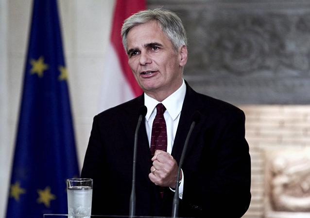 Werner Faymann, chancelier fédéral autriche