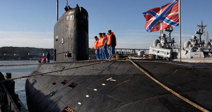 Le sous-marin diesel-électrique Krasnokamensk à Vladivostok