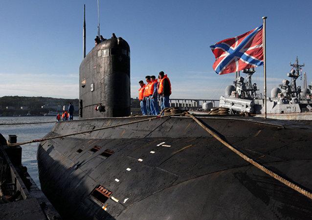 Le sous-marin Krasnokamensk du projet 877 à Vladivostok