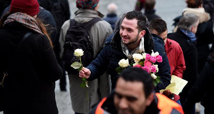 Allemagne: des roses contre la barbarie