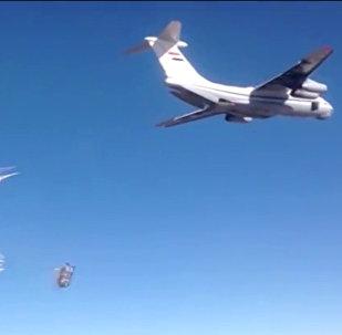 Largage de fret humanitaire russe en Syrie